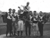 July 1958 with National Team Trophy. L/R: Ronnie Gibbons-Terry Greenaway-Malcolm Bell-Roy Archie(holding Trophy)-Sid Tomlyn-Alan Risley-Pete Fraser(Stan Stevens missed picture due to a Speedway Commitment).
