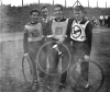 1962 Yorkshire Riders Final at Bowling Aces track. L/R: Robin Wells(Horton Rangers)3rd 12 points-Vic Lonsdale(Bradford Speedway Rider)-Mike Cockroft(Horton Rangers)winner 13points-Jim Meadowcroft(Elmfield Eagles)2nd 13points(after run-off).
