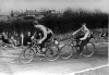 1956 Carrs Wood Hunters v Whipps X Comets. Terry Howse(Comets) leads Derek Tegg(Hunters).