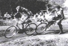1949 Hayes & Hillingdon. Max Bacon leads Pete Leckie(Harefield).