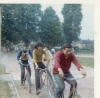 Hendon Aces at Uxbridge. Gerry Wallis leads Richard Lee, with Elfryn Forbes 3rd and Bonny Edwards at the rear.