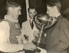 1950 A Happy Jim Gale Receives the National Team Trophy.