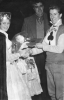 1950s. Des Wilson receives his shield from Pauline Kersey(carnival Queen). Ron Ashford(club chairman) in background.