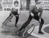 Poole v Bournemouth - Derek Knight(Poole) chases Rob Heywood(Weymouth).