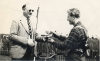 1952. Mr E Branch presents Pete Chapman with the Individual Riders Cup.