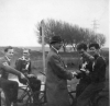 1954. Eric Branch presents Johnny Mason with the Individual Riders Medal. Also in picture Alan Catley-Johnny Pinnock-Bill Nutting.