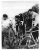 1957 Middlesex K.O. Cup. Walthamstow Wolves riders Terry Greenaway-Malcolm Bell and Pete Fraser.