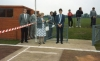 1987 Councillor D. Warsop, the Lady Mayor of Ipswich, giving her speech prior to the Official Grand Opening of the new track.